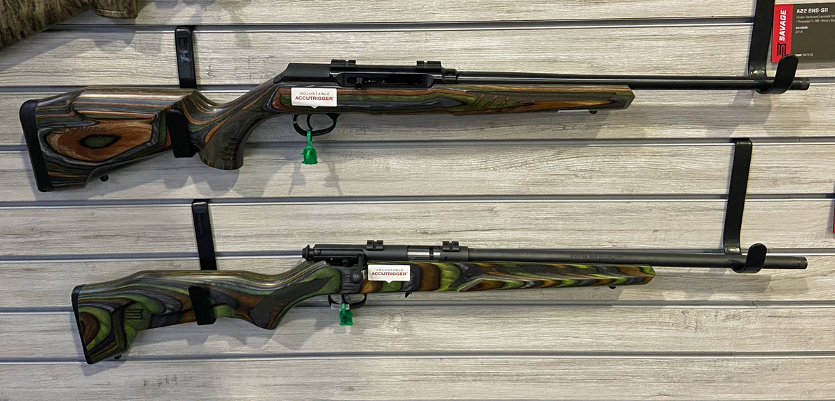 New Savage models from the 2020 SHOT Show. Green Minimalist stock (bottom) is attractive.